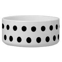 Black and White Polka Dot Pattern. Spotty. Bowl
