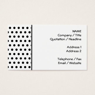 Black and White Polka Dot Pattern. Spotty. Business Card