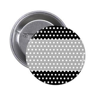 Black and White Polka Dot Pattern. Spotty. Button