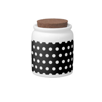 Black and White Polka Dot Pattern. Spotty. Candy Dish