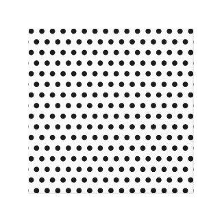 Black and White Polka Dot Pattern. Spotty. Canvas Print