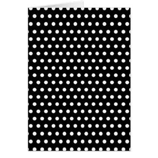 Black and White Polka Dot Pattern. Spotty. Card