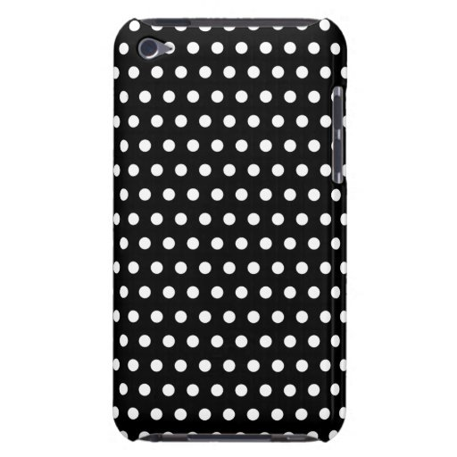 Black and White Polka Dot Pattern. Spotty. iPod Touch Case-Mate Case