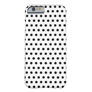 Black and White Polka Dot Pattern. Spotty. Barely There iPhone 6 Case