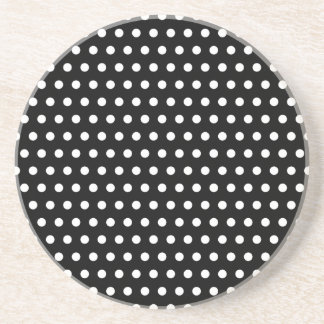 Black and White Polka Dot Pattern. Spotty. Coasters