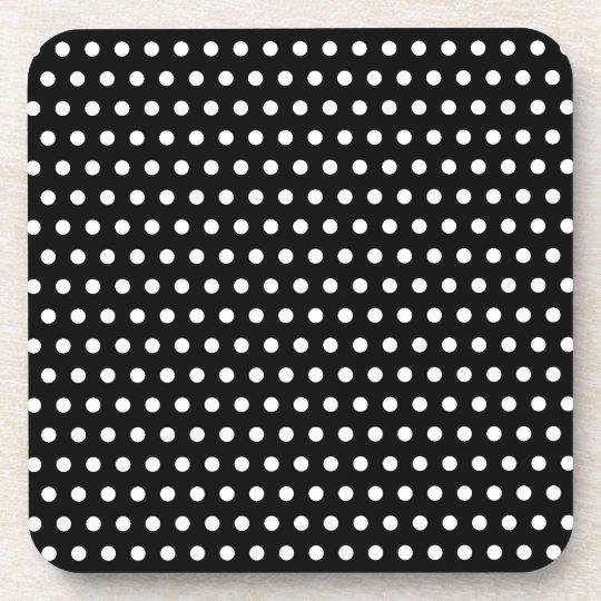 Black and White Polka Dot Pattern. Spotty. Coaster