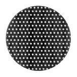 Black and White Polka Dot Pattern. Spotty. Cutting Board
