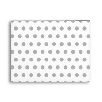 Black and White Polka Dot Pattern. Spotty. Envelope