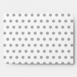 Black and White Polka Dot Pattern. Spotty. Envelopes