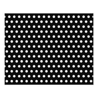 Black and White Polka Dot Pattern. Spotty. Flyer