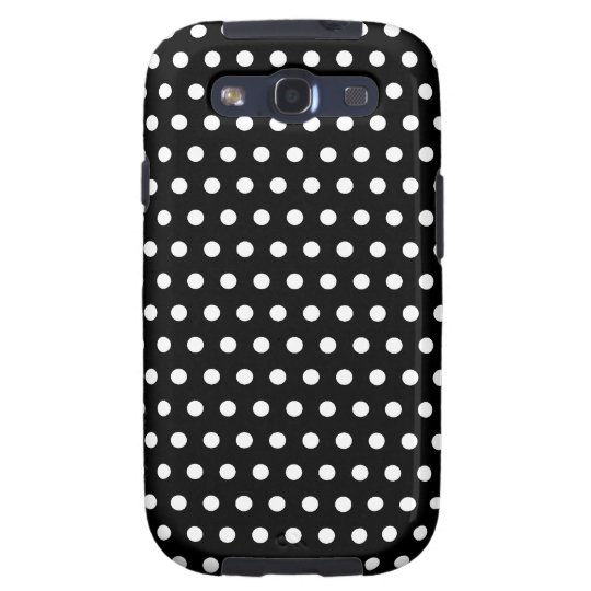 Black and White Polka Dot Pattern. Spotty. Galaxy S3 Case