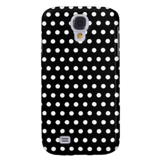Black and White Polka Dot Pattern. Spotty. Galaxy S4 Cover