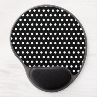 Black and White Polka Dot Pattern. Spotty. Gel Mouse Pad