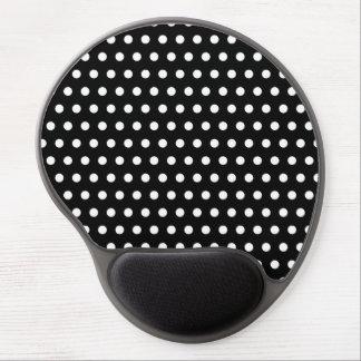 Black and White Polka Dot Pattern. Spotty. Gel Mousepad