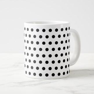 Black and White Polka Dot Pattern. Spotty. Giant Coffee Mug