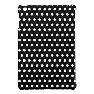 Black and White Polka Dot Pattern. Spotty. iPad Mini Cases
