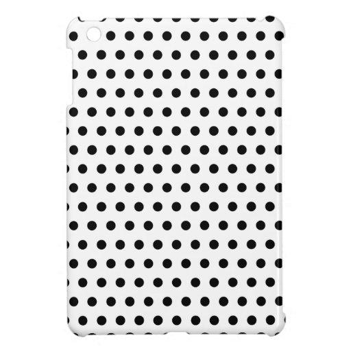 Black and White Polka Dot Pattern. Spotty. iPad Mini Cover