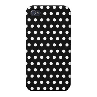 Black and White Polka Dot Pattern. Spotty. iPhone 4 Case