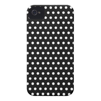 Black and White Polka Dot Pattern. Spotty. iPhone 4 Cover