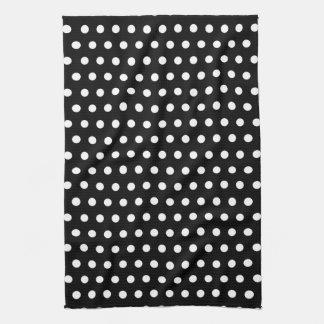 Black and White Polka Dot Pattern. Spotty. Kitchen Towel