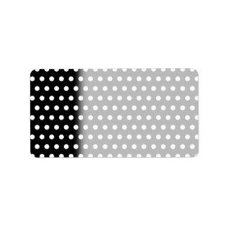 Black and White Polka Dot Pattern. Spotty. Custom Address Labels