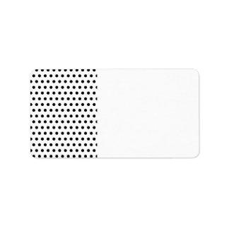 Black and White Polka Dot Pattern. Spotty. Label
