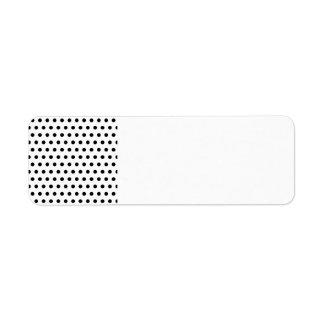 Black and White Polka Dot Pattern. Spotty. Return Address Labels