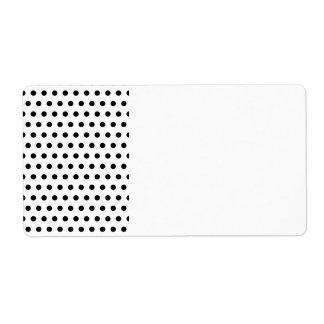 Black and White Polka Dot Pattern. Spotty. Custom Shipping Labels