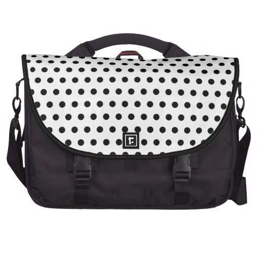 Black and White Polka Dot Pattern. Spotty. Commuter Bags