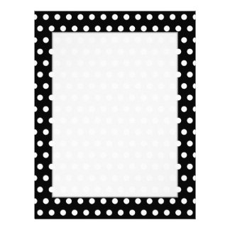 Black and White Polka Dot Pattern. Spotty. Letterhead