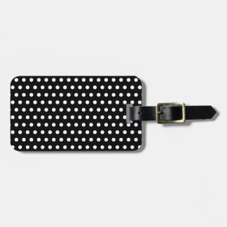 Black and White Polka Dot Pattern. Spotty. Luggage Tag