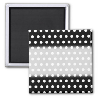 Black and White Polka Dot Pattern. Spotty. Magnet