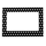 Black and White Polka Dot Pattern. Spotty. Photo Frame Magnet