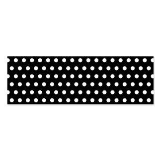 Black and White Polka Dot Pattern. Spotty. Mini Business Card