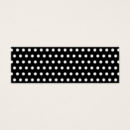 Black and White Polka Dot Pattern. Spotty. Mini Business Card