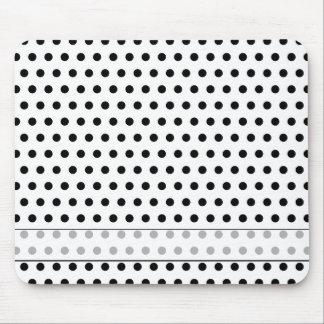 Black and White Polka Dot Pattern. Spotty. Mouse Pad