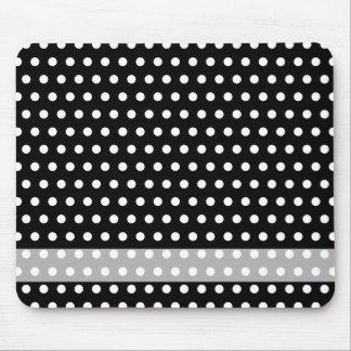 Black and White Polka Dot Pattern. Spotty. Mousepads