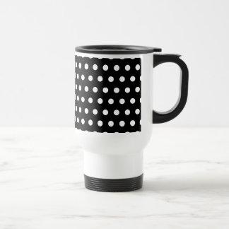 Black and White Polka Dot Pattern. Spotty. Mug