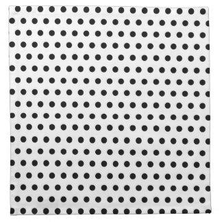 Black and White Polka Dot Pattern. Spotty. Cloth Napkin