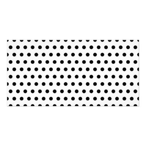 Black and White Polka Dot Pattern. Spotty. Photo Card