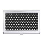 Black and White Polka Dot Pattern. Spotty. Business Card Cases