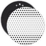 Black and White Polka Dot Pattern. Spotty. Pin