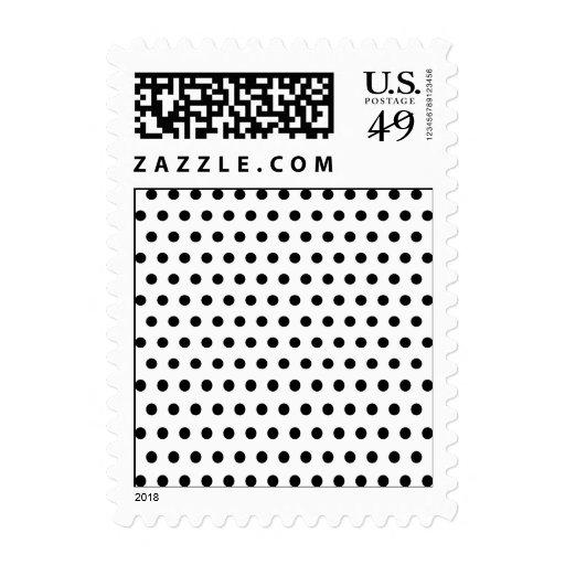 Black and White Polka Dot Pattern. Spotty. Postage