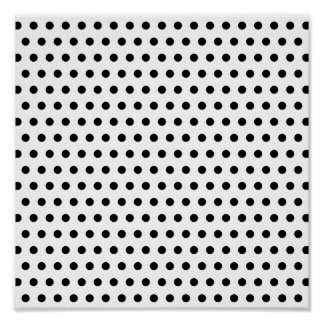 Black and White Polka Dot Pattern. Spotty. Poster