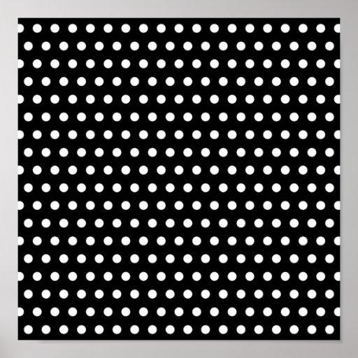 Black and White Polka Dot Pattern. Spotty. Print