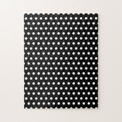 Black and White Polka Dot Pattern. Spotty. Jigsaw Puzzle