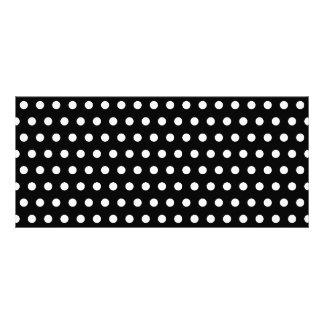 Black and White Polka Dot Pattern. Spotty. Rack Card