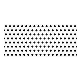 Black and White Polka Dot Pattern. Spotty. Personalized Rack Card