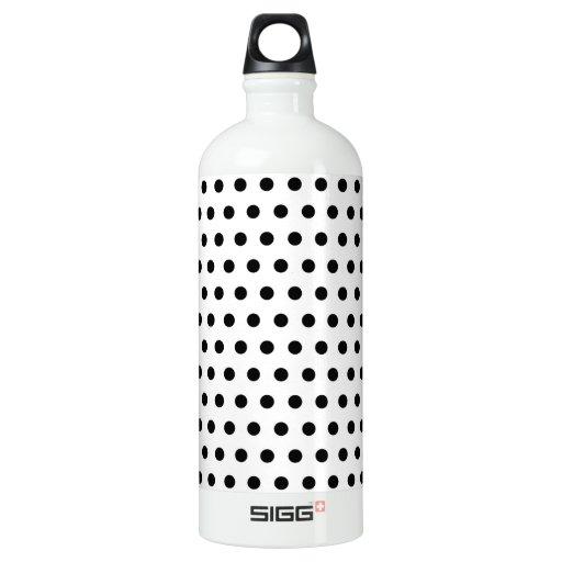 Black and White Polka Dot Pattern. Spotty. SIGG Traveler 1.0L Water Bottle