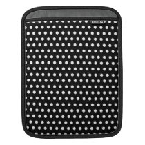 Black and White Polka Dot Pattern. Spotty. Sleeve For iPads